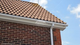 UPVC white fascia soffit square guttering