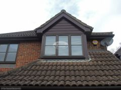 upvc shiplap cladding on a dorma window