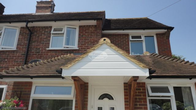 upvc shiplap cladding on a porch