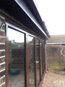 Rosewood fascia and soffit