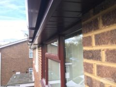 Rosewood tongue and groove soffit
