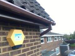 UPVC brown square gutters with rosewood fascia board