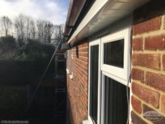 UPVC white soffits and brown square guttering Maidstone