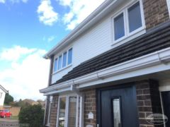White ogee UPVC guttering and UPVC fascias